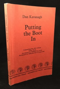 Putting the Boot In Uncorrected Proof (Cape, 1985): Cover