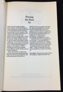 Putting the Boot In Uncorrected Proof (Cape, 1985): Preliminary Page