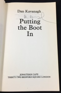 Putting the Boot In Uncorrected Proof (Cape, 1985): Title Page