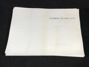 Staring at the Sun | Unbound Proof (Jonathan Cape, 1986; Author's Copy)