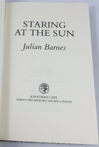 Staring at the Sun (London Limited Editions, 1986): Title Page