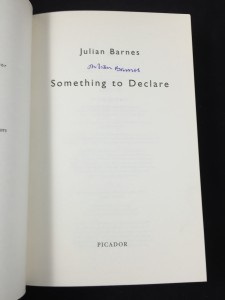 Something to Declare (Picador, 2002): Title Page