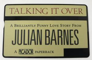 Front of BT Phonecard Featuring Julian Barnes's Novel Talking It Over