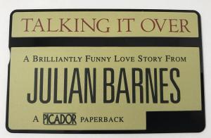 Front of BT Phonecard Featuring Julian Barnes's Novel Talking It Over