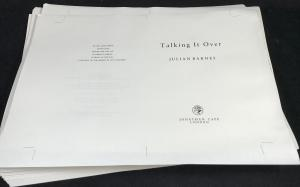 Talking It Over | Unbound Proof (Jonathan Cape, 1991; Author's Copy)