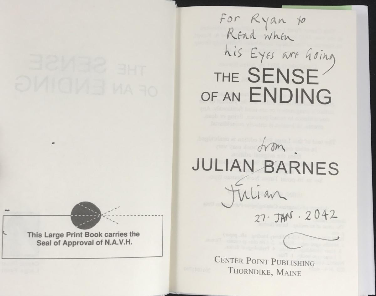 the sense of an ending by julian barnes essay A selected listing of essays and scholarly criticism written about julian barnes reviews & scholarly criticism the sense of an ending by julian barnes.