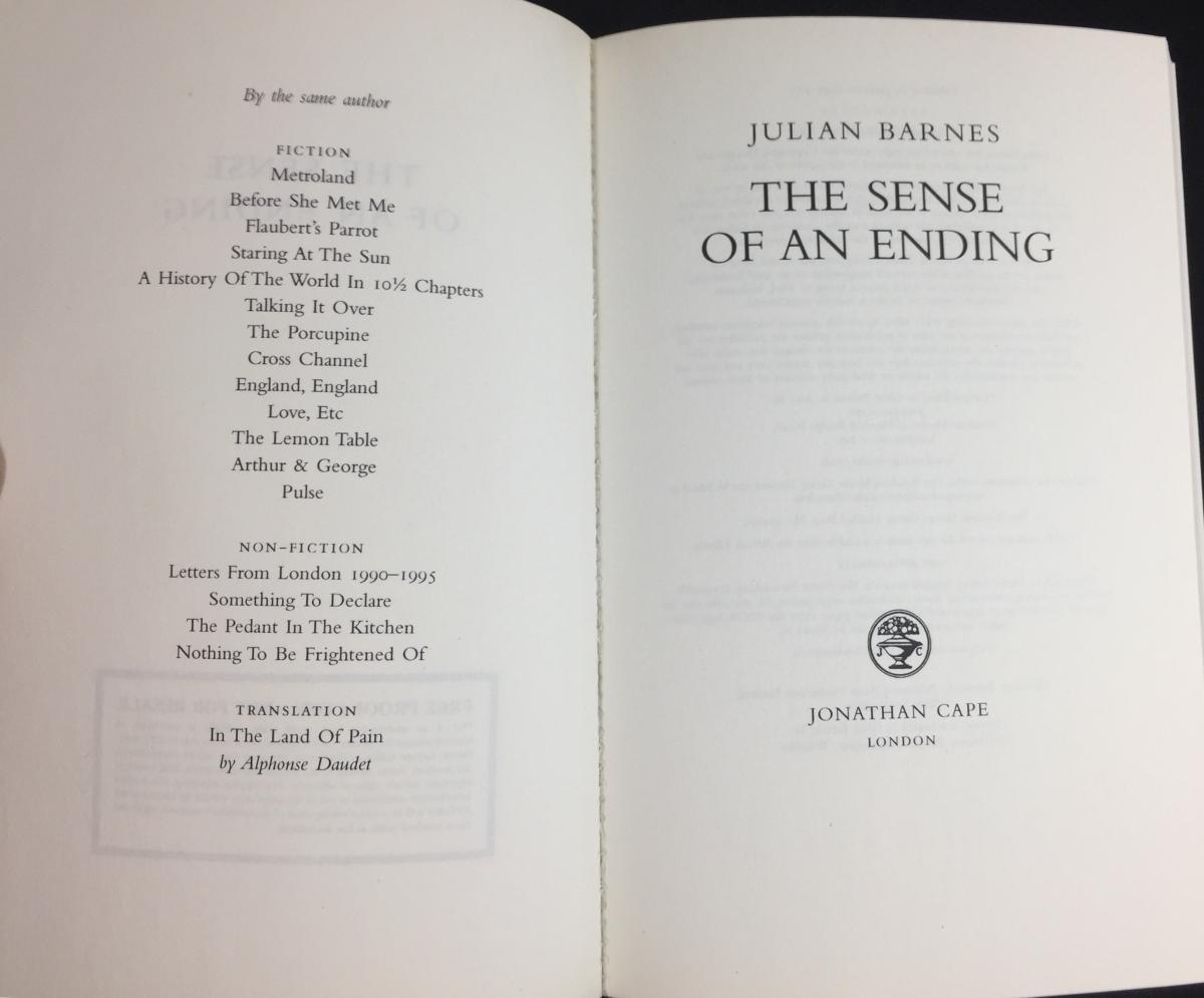 Sense of an Ending, The – Page 2 – Julian Barnes Bibliography