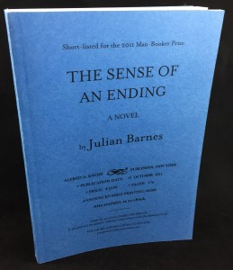 The Sense of an Ending | Blue U.S. Proof (Knopf, 2011): Cover