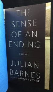 The Sense of an Ending | Blue U.S. Proof (Knopf, 2011): Provisional Jacket