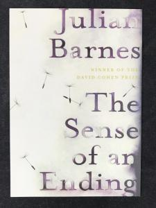 Front of Postcard for The Sense of an Ending by Julian Barnes