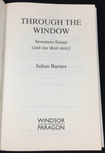 Through the Window (Windsor Paragon, 2013; Large Print): Title Page